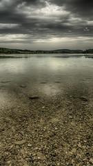 Dans l'eau des lacs... (Fred&rique) Tags: lumixfz1000 photoshop raw hdr lac jura reflets pluie paysage nature ciel nuages ilay