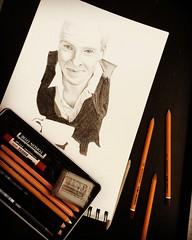 Benedict Cumberbatch Portrait Drawing        WiP (Kathi Lemon) Tags: vip celebraty actor sherlock kathilemon pencil kohinoor white black zeichnung weiss schwarz drawing art cumberbatch benedict