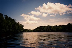 DR3-024-10A (David Swift Photography Thanks for 22 million view) Tags: davidswiftphotography newjersey southjersey belleplainstateforest lakenummy lakes forest water clouds 35mm film olympusstylusepic nature