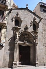 "Barcelona (Ample street).  Former portal of Sant Miquel church, reconstructed in 1872 next to La Mercè. 1516. René Ducloux, sculptor. Gabriel Pellicer and Pau Mateu, builders. (Catalan Art & Architecture Gallery (Josep Bracons)) Tags: ""josep bracons"" catalunya catalonia cataluña catalogne katalonien art catala catalan arte kunst gallery barcelona barcelone ample merce ""jeroni descoll"" ducloux angel ange arcangel archange archangel miquel miguel michel michael esglesia iglesia eglise church chiesa igreja kirche façana fachada facade catholic arquitectura architecture porta portada puerta portal portico porte portail door escultura grutesco grotesc grottesco reconstruccio reconstruccion relleu relieve relief pilastra pilastre pilaster"