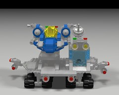 Space Fighter Carrier and Fighter Front (hornjesse896) Tags: legoclassicspace classicspace lddtopovray carrier spaceship spacefighter
