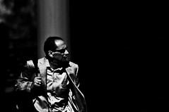 Tuff Enuff  !!!!!! (imagejoe) Tags: vegas nevada strip street black white photography photos shadows reflections people nikon