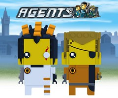 Dr. Inferno & Gold Tooth Brickheadz (Soloman Fagan) Tags: lego brickheadz moc agents legoagents drinferno dr doctor inferno goldtooth gold tooth cyborg 2009
