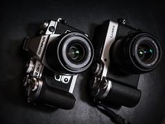 E-M1 vs GX8 (Vincent F Tsai) Tags: camera cameraporn gear olympus omd em1 panasonic lumixgx8 silver mirrorless microfourthirds m43 mft lumixg25mmf17leica dg summilux 25mm f14