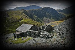 Re-visited........left click and scroll to view large. (stu.bloggs..Dont do Sundays) Tags: bothy haystacks landscape lakeland cumbria lakedistrict fells mountains mrsbloggs slate building shelter mountainbothy summer july 2017 path pathway clouds pillar