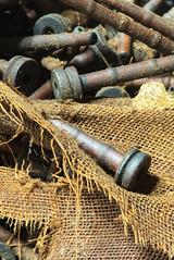 (leahlaurinda) Tags: watersidewoolenmill bobbins attic pennsylvania factory mill macro