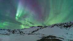 'Road to the Lights' - Iceland (Kristofer Williams) Tags: iceland night sky stars mountains winter snow ice aurora northernlights auroraborealis landscape nightscape