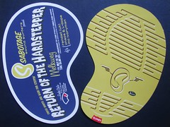 Dutch Party Flyer 1999 (streamer020nl) Tags: shamrock jeroenklaver melkweg 1999 hardsteppers party flyer flyers drukwerk graphics holland nl netherlands house dj clubs 1990s
