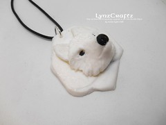 Polymer Clay Pendant Arctic Fox by LynzCraftz (LynzCraftz) Tags: polymerclay pendant jewelry necklace oneofakind handmade art resin