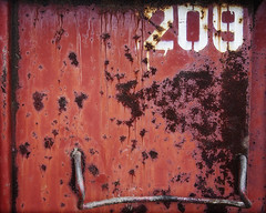 2012 Step 209 In A 12 Step Program (mobiusfaith) Tags: corrosion oxidation container rust dumpster number step red