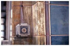 Open Close (peterphotographic) Tags: img018edwm openclose open close nikon nikonf3 f3 ©peterhall coventgarden london england uk britain city cityscape urban closeup f14 fuji fujifilm film analog 35mm scanned key lock tile wall depthoffield dof bokeh colour color abstract seen random