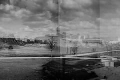 kingdom.fold (jonathancastellino) Tags: toronto northyork multipleexposure film analog analogue lomo lomography lca xp2 ilford mirage kingdom path cloud clouds series information fold tree