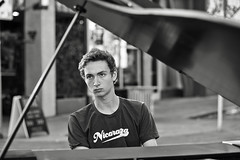 serious street tunes (Dean Forbes) Tags: select seattle capitolhill street piano man candid