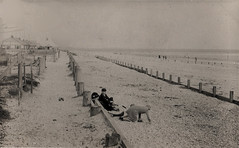Hayling Beach 1936 (SHayling2001) Tags: hayling beach groyne portsmouth hampshire vintage erosion