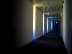 Blue light and shadow (rainerralph) Tags: shadow olympus architektur architecture light omdem5markii objektiv714pro chipperfield indoor