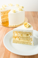 Lemon Cake 7-23-17 (brian_barney9021) Tags: cake dessert bakery meringue la crosse wisconsin lemon white food classic slice nikon d7200