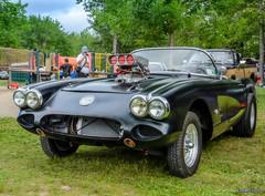 1960 Corvette gasser (kenmojr) Tags: 2017 antique atlanticnationals auto car classic moncton newbrunswick show vehicle vintage centennialpark kenmo kenmorris carshow nikon d7000 nikkor 18105 1960 corvette vette chevy chevrolet c1 gasser hotrod