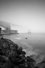 GOLDEN FOG (Tarik Bouamri) Tags: sanfrancisco goldengate bridge usa longexposure seascape minimalist fog landscape fineart monochrome blackwhite