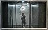 Treffer - Hit (Heinrich Plum) Tags: heinrichplum plum fuji xe2 xf35mmf2 munich münchen streetphotography street streetphotographie strassenfotografie spiegelung spiegelbild reflection reflektion window scheibe stein broken brokenwindow stone zerbrochen bavaria bayern selfie selfportrait g20 zerstörung wrecking