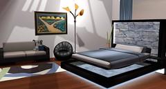 Sydney Paradise Bed (Akaesha Revnik) Tags: second life secondlife akaesha react animated furniture animations couple bed bath sofa set