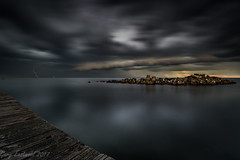 Lightning Strike (Gary Eastwood) Tags: storm lighning seascape clouds longexposure jetty ocean moody