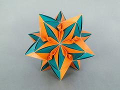 Fern Flower (masha_losk) Tags: kusudama кусудама origamiwork origamiart foliage origami paper paperfolding modularorigami unitorigami модульноеоригами оригами бумага folded symmetry design handmade art