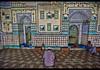 Inside the tiled Sitara (Star) Mosque, Dhaka, Bangladesh (jitenshaman) Tags: travel destination worldlocations asia asian bangladesh dhaka dacca beard male moslem muslim thirdworld religion religions islam mosque mosques masjid prayer praying pray tile tiles tiled sitara sitaramosque star starmosque patterns design interior architecture interiors fuji