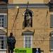 Garibaldi, Vierge couronnée et cadrans solaires, Palazzo del Governatore, piazza Garibaldi, Parme, Emilie-Romagne, Italie.