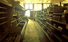 Zombies Here? (Neal3K) Tags: georgia mansfieldga grocery vintagestore supermarket ir infraredcamera kolarivisionmodifiedcamera zombies backlight