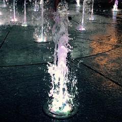 Small fountains at Plac Litewski (jacek.klimkowicz) Tags: fountains town water light reflection splash wet city poland lublin