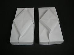 Lids from silver rectangles (Mélisande*) Tags: mélisande origami box barbarajanssenfrank