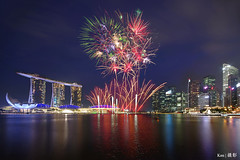 NDP 2017 NE3 Fireworks #1 (Ken Goh thanks for 2 Million views) Tags: ndp ne3 mbs night fireworks reflection landscape cityscape hdr lights lighting colorful colors pentax k1 sigma 1020 ff