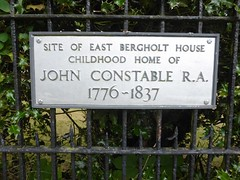 Sign of John Constable's childhood home in East Bergholt (Essex, England 2017) (paularps) Tags: engeland england unitedkingdom uk arps paularps 2017 europa europe travel reizen countryside essex suffolk seal seals constable johnconstable boats mistley manningtree