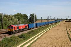 66152 6E26 Raskelf 17.07.2017 (Dan-Piercy) Tags: dbcargo class66 66152 raskelf 6e26 knowsley wilton empty bins ecml