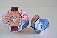 Veritas Kusudamas (Byriah Loper) (Byriah Loper) Tags: origami origamimodular modularorigami modular kusudama paperfolding paper polygon polyhedron byriahloper crease
