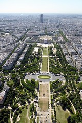 Paris viewed from the Eiffel Tower (Muddy LaBoue) Tags: iledefrance monuments towers iconicarchitecture 1889 2017 july worldexposition eiffeltower paris france attractions tourism panasoniclumixdmctz60 summer