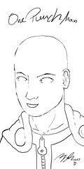 One Punch Man (Dreamofdesign) Tags: anime manga one punch man digital drawing saitama caped baldy