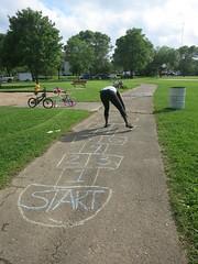 Hopscotch! (madisonpubliclibrary) Tags: madisonpubliclibrary haenfamilypark wildrumpus wandafullmoreinternshipprogram commonwealthdevelopment 2017 teens interns employ employment hopscotch