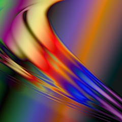 Dimension Rainbow. (Jim Keaton - Structured Art) Tags: energy abstractart wave graphic jimkeaton srq sarasota florida rainbow northernlights 44x44 electric motion digitalart gardnerkeaton structuredart lobbyart hotelart dimentional corporateart paintingwithlight visualart