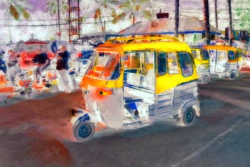 India - Goa - Palolem - Streetlife - Auto Rickshaw - 110bb