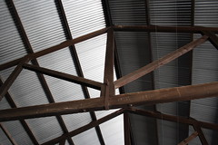 Woodwork of the good shed (Runabout63) Tags: woodwork railway goods shed southaustralianrailways