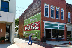 Old Coca-Cola Ad - Laurens S.C. (DT's Photo Site - Anderson S.C.) Tags: canon 6d 24105mml lens laurenssc coca cola coke upstate south carolina vintage wall advertising ad signs nostalgia rural vanishing southern america usa landscape southernlife downtown uptown city square