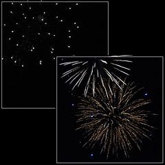 5 - Tours, Feux d'artifice du 14 juillet (melina1965) Tags: juillet july 2007 centrevaldeloire indreetloire tours nikon d80 mosaïque mosaïques mosaic mosaics collages collage feudartifice feuxdartifice fireworks lumière light nuit night ciel sky eau water