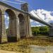 Menai Bridge (RichySum77) Tags: bridge green light angelsey landscape water strait contrast canon sigma wales uk clouds sky