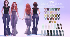 Foxes - Bell Bottoms & Tucked Tee @ Uber (Dani @ Birdy/Foxes/Alchemy) Tags: sl secondlife foxes uber bell bottom jeans 70s