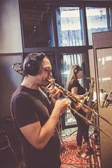 Annie Dominique Quintet studio 2017 - Jean-Nicolas Trottier et Annie Dominique