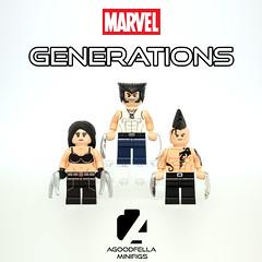 MARVEL Generations 👶👨👴 Series 1 (The Wolverine) [MARVEL] (agoodfella minifigs) Tags: lego marvel marvellego legomarvel minifigures marvelcomics comics heroes generations wolverine x23 daken xmen