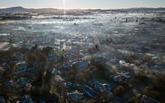 Winter Haze [1] (Robert Brienza) Tags: dji djimavicpro landscape masterton newzealand northisland sunrisemorning tararuaranges winter wellington nz