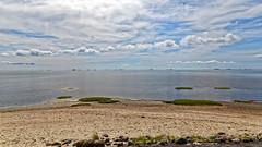 Ruhe (M. Franziska D.) Tags: nordee nordfriesland inselföhr wolken dünen strand felder