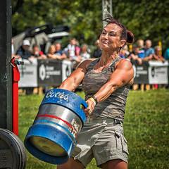 Tossing the Keg (squirrel.boyd) Tags: dalriadafestival glenarm strongman beer keg strength